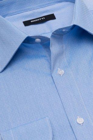 Camasa slim albastra jaquard