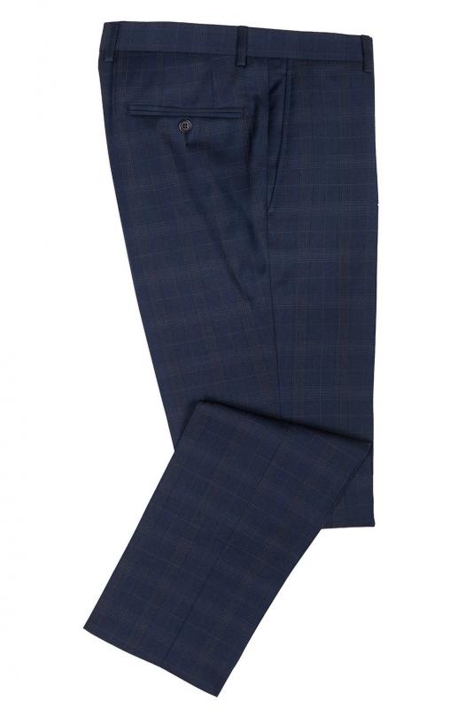 Pantaloni superslim fabian bleumarin in carouri