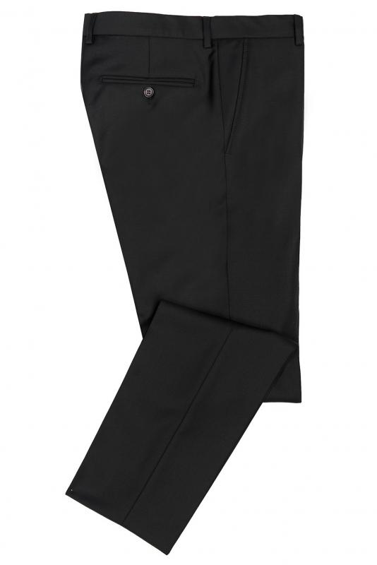 Pantaloni slim conti negru uni