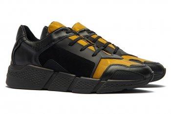 Sneakers Galbeni Piele si textil