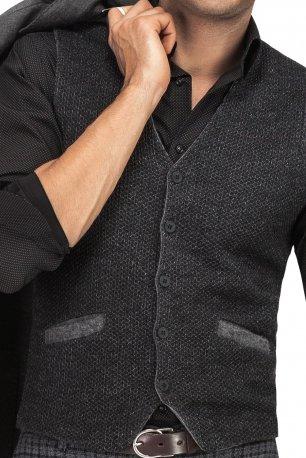 Vesta slim tricotata neagra uni