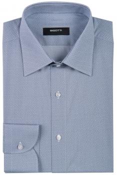 Superslim Blue Geometric Shirt