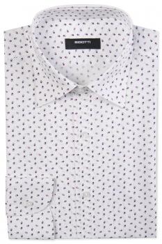 Superslim White Geometric Shirt