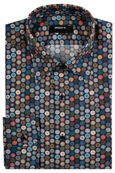 Camasa Shaped Bleumarin print geometric