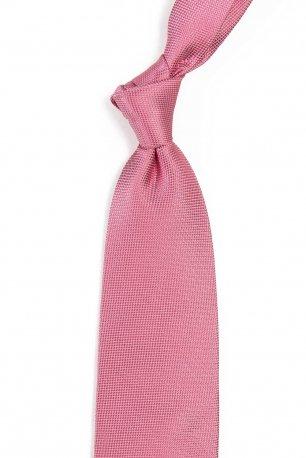 Cravata matase tesuta roz uni
