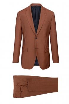 Superslim Orange Plain Suit