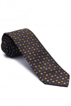 Brown Geometric Tie