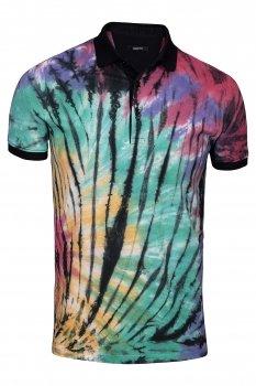 Tricou slim Multicolor print floral