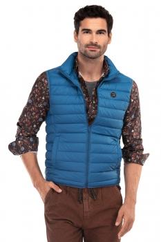 Slim Blue Plain Waistcoat