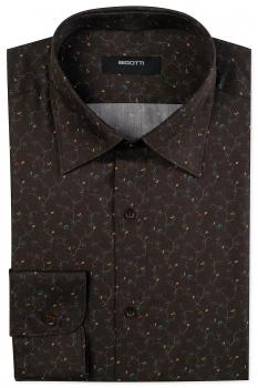 Slim body Brown Floral Shirt