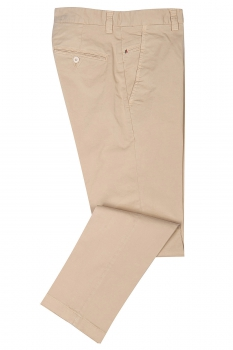 Slim body Beige Plain Trouser