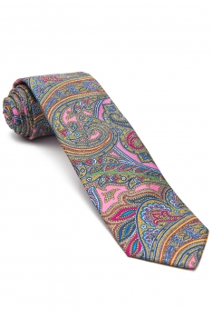 Pink Floral Tie