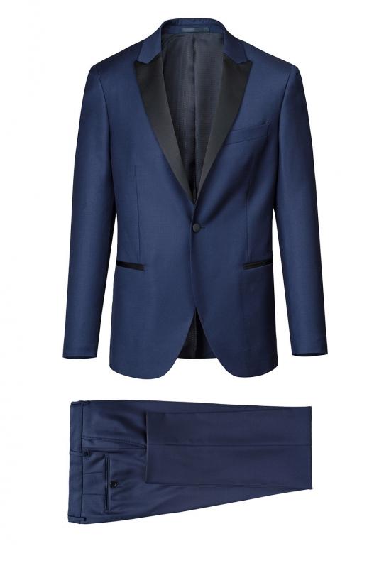 Costum slim mondrian albastru uni