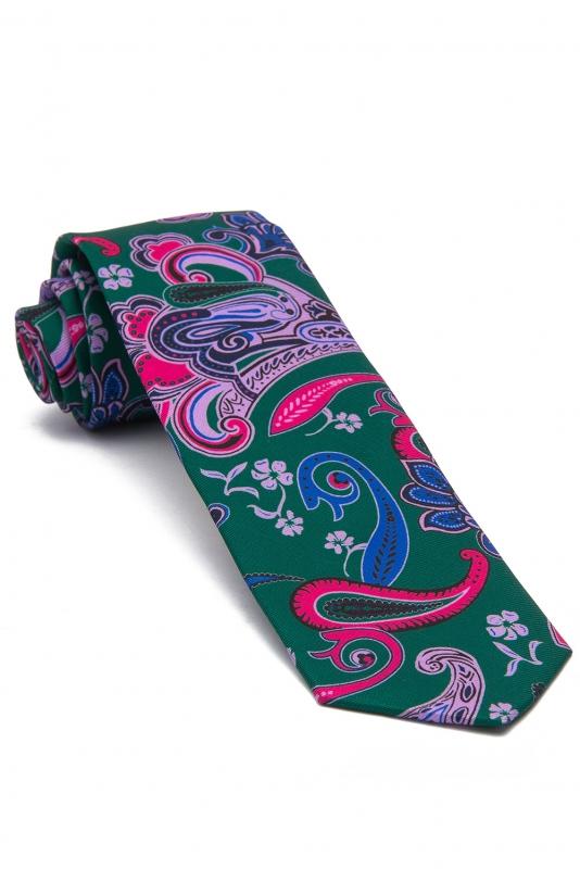 Cravata poliester multicolora print floral