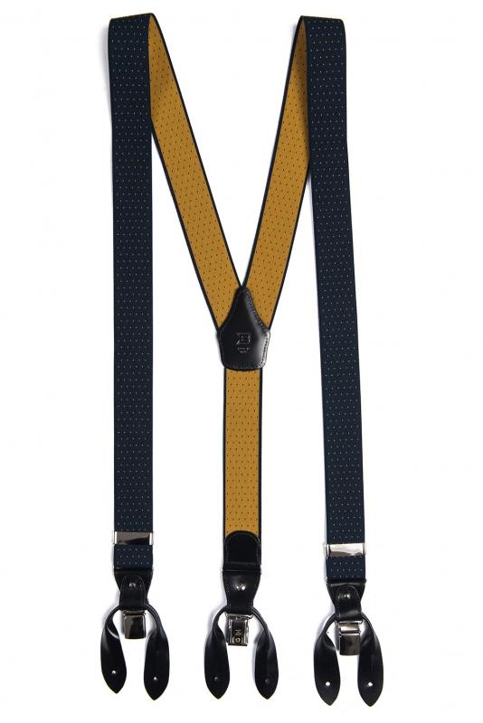 Bretele bleumarin print geometric
