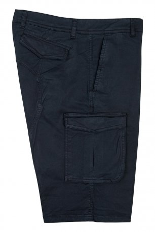 Pantaloni scurti bleumarin uni