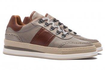 Sneakers gri piele naturala