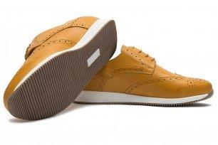 Sneakers galbeni piele naturala