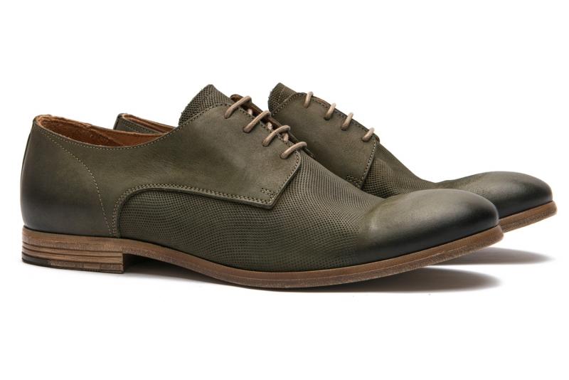 Pantofi verzi piele naturala