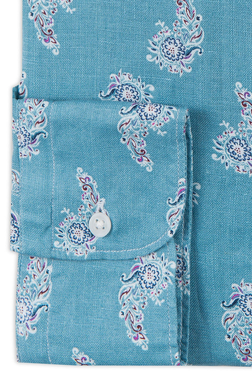 Camasa shaped din in bleu print floral 2