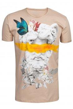 Tricou Bej print