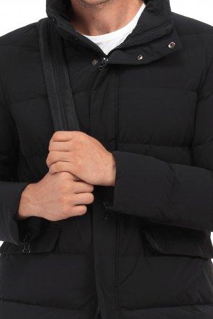 Jacheta  slim neagra cu puf