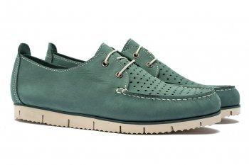 Pantofi Verzi Piele nabuc