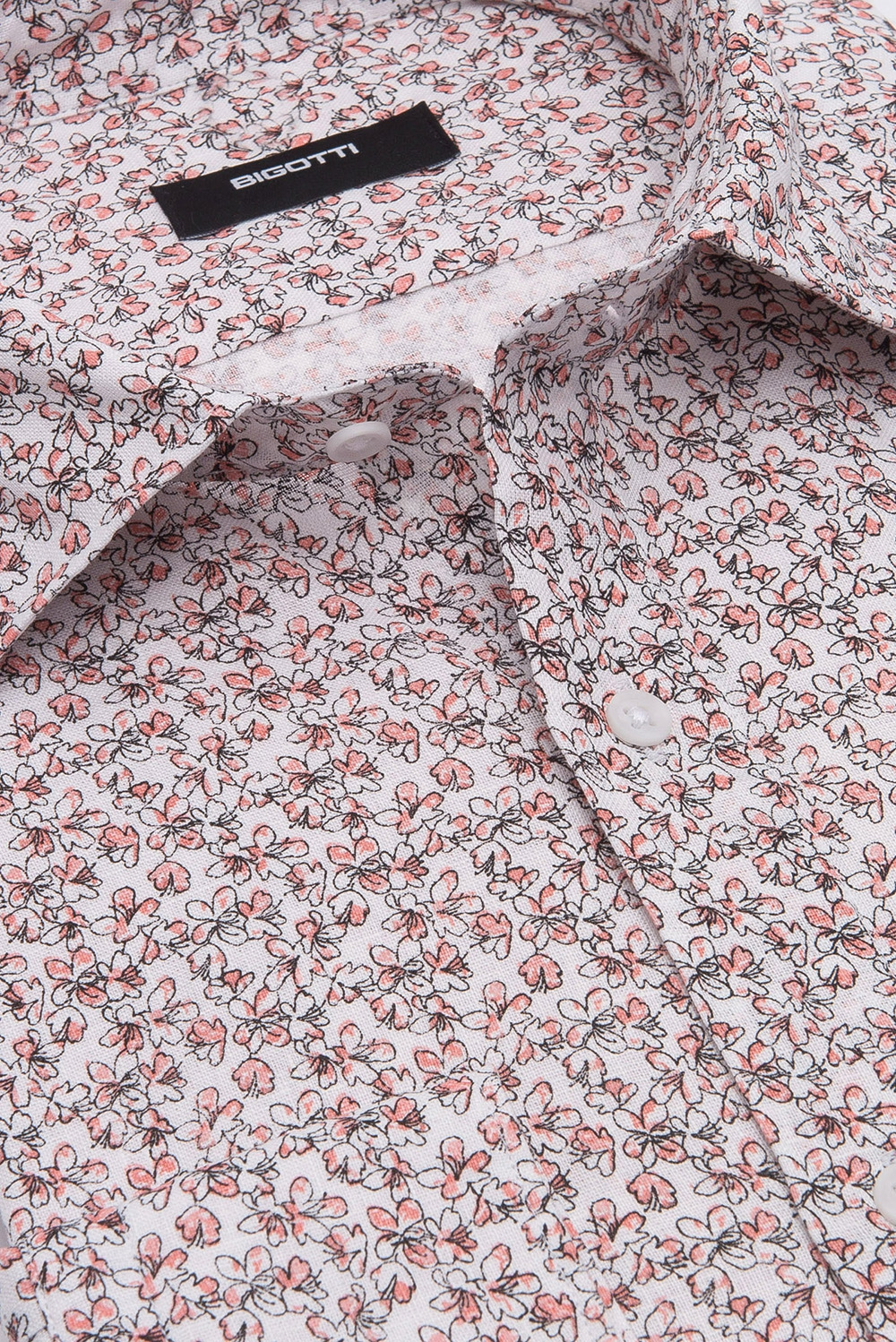 Camasa shaped din in alba print floral 1
