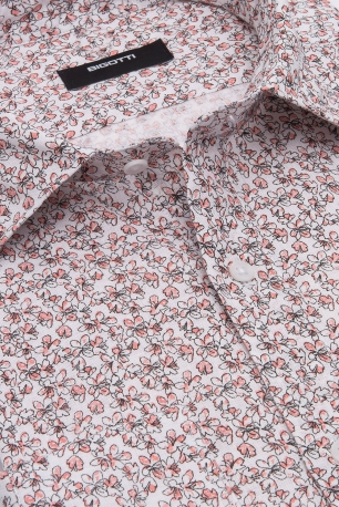 Camasa shaped din in alba print floral