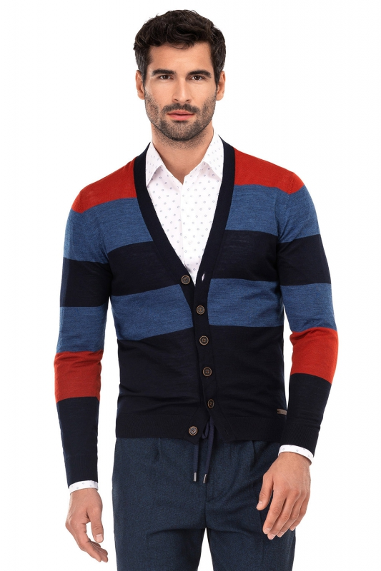 Cardigan slim multicolor