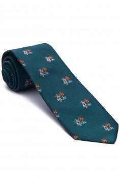 Cravata bleu print floral