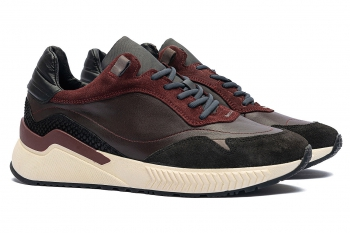 Burgundy Piele naturala si piele intoarsa Shoes