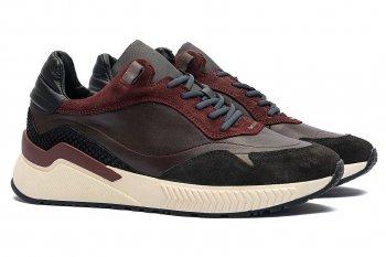 Sneakers Grena Piele naturala si piele intoarsa