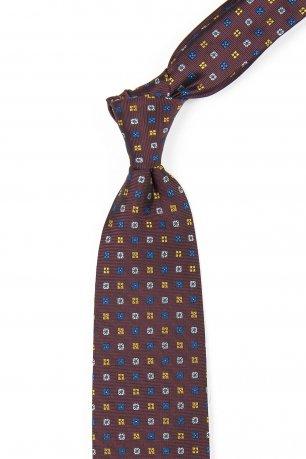 Cravata grena print geometric