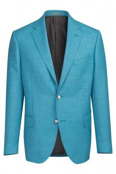 Slim Light blue Plain Blazer