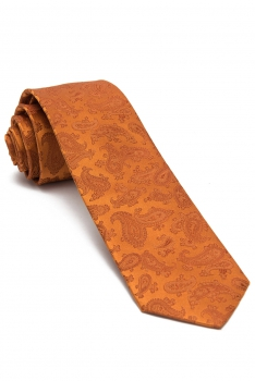 Orange Plain Tie