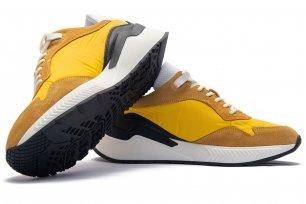 Sneakers galbeni piele naturala si textil