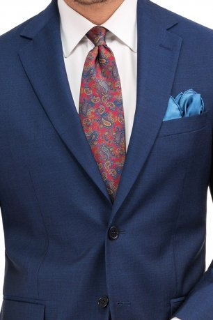 Costum superslim riccof albastru  uni