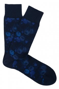 Sosete bleumarin print floral