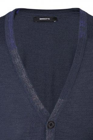 Cardigan regular bleumarin uni
