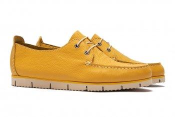 Pantofi Galbeni Piele naturala