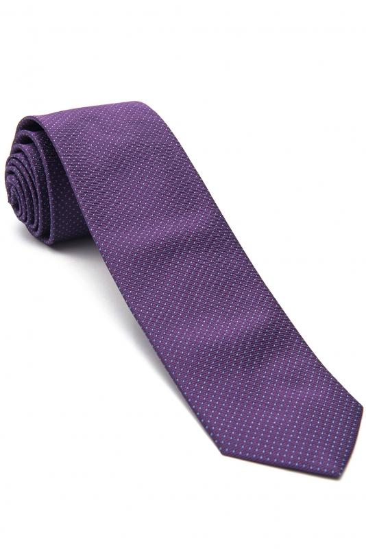 Cravata matase tesuta mov print geometric