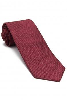 Cravata matase tesuta grena uni