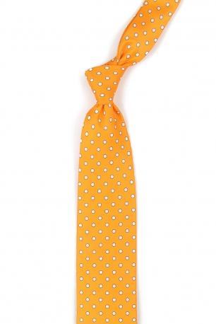 Cravata poliester galbena print geometric