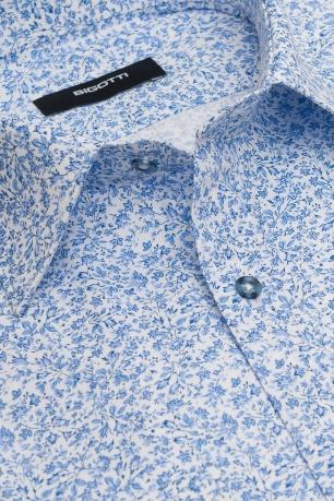 Camasa shaped alba print floral