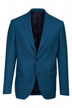 Slim body Blue Geometric Blazer