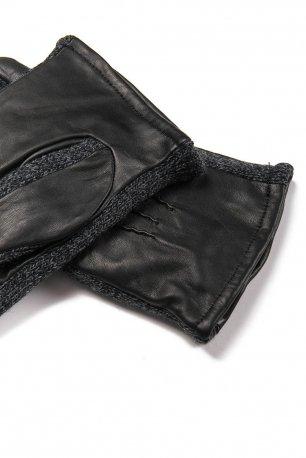 manusi negre piele si textil