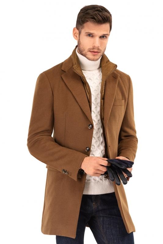 Palton caramiziu uni