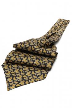 Navy Floral Ascot tie