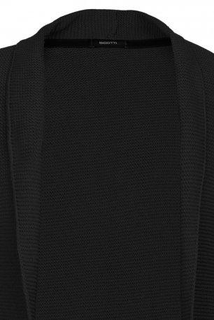 Cardigan slim negru uni